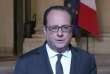 François Hollande s'est exprimé sur le parvis de l'Elysée, quelques temps après l'attaque terroriste ayant entraîné la mort d'un policier sur les Champs-Elysées, jeudi 20 avril.