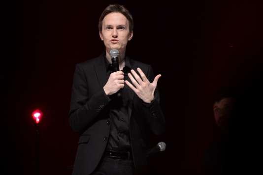 Le pianiste Alexandre Tharaud lors du concert en hommage à Barbara au 41e Printemps de Bourges, le 20 avril 2017.