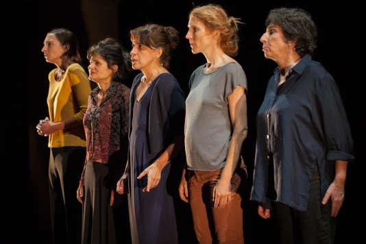 «Une mouette», mise en scène par Isabelle Lafon, lors d'une représentation au Théâtre de La Villette, à Paris.