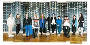 De gauche à droite, Hyunwoo Kim, Lotte Van Dijk, Hermione Flynn, Maria Korkeila, Gesine Försterling, Danial Aitouganov, Vanessa Schindler, Marine Serre, Marianna Ladreyt et Fuhong Yang.