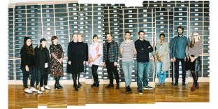 De gauche à droite, Marina Chedel, Wendy Andreu, Noémie Nivelet, EevaRönkä, Sofya Samareva, Christophe Lhote, Alexandre Girard, Thibaut Rodde et Sandrine Pachecus, Mayeul Reignaultet Emma Montague.