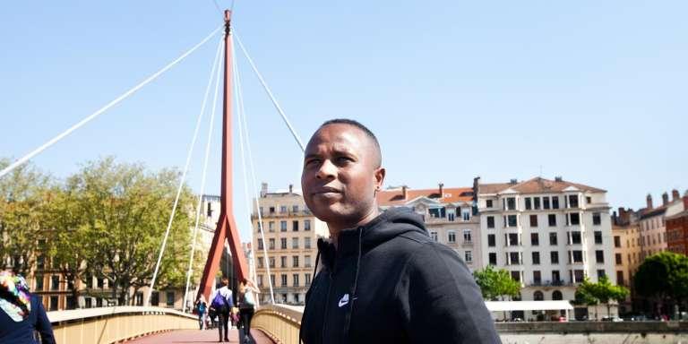 Merhawi dans le centre ville de Lyon le 10 avril 2017.