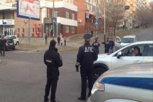 Image extraite d'une vidéo tournée à proximité du lieu de l'attaque.
