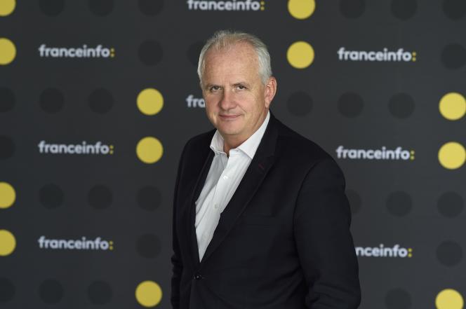 Olivier de Lagarde, présentateur de« Moi président», sur Franceinfo.