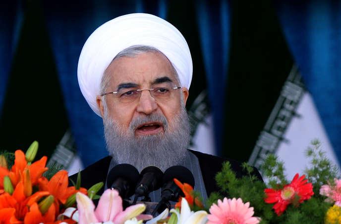 Le président iranien Hassan Rohani, le 18 avril 2017.