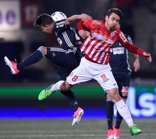 Lors de la rencontre entre Nancy et Marseille, le 21 avril, au stade Marcel-Picot, en ouverture de la 34e journée de Ligue 1.