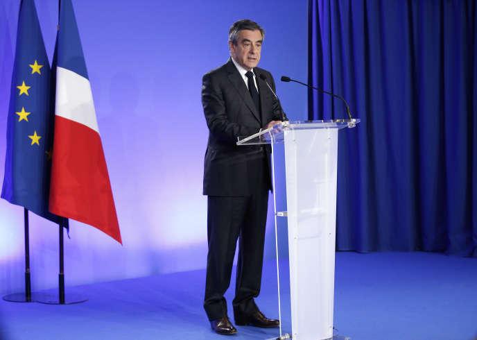 François Fillon, le 21 avril 2017, à Paris