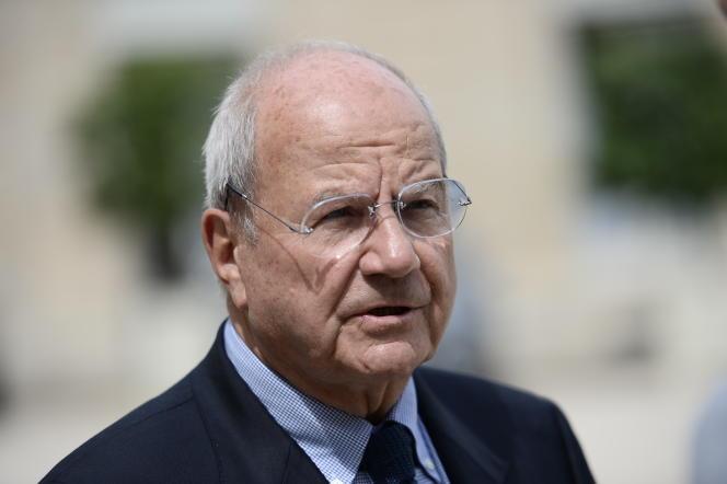 Le financier Marc Ladreit de Lacharrière à l'Elysée à Paris en juin 2016.