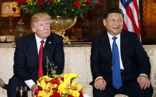 Le président Donald Trump et son homologue chinois Xi Jinping lors de leur rencontre à Mar-a-Lago en Floride le 6 avril.