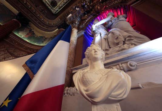 Un buste de Marianne, à la préfecture des Alpes-Maritimes, en janvier 2016.