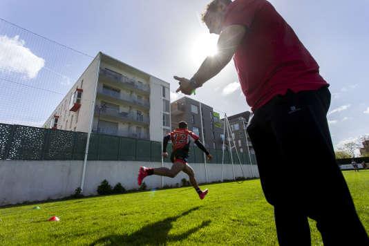 Journée de sélection pour le centre de formation du club de rugby de Bobigny.
