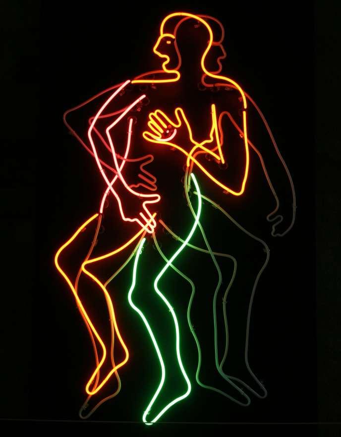 La sculpture de Bruce Naumann intitulée «Masturbating Woman», 1985, à la Fondation Beyeler à Bâle, en Suisse, le jeudi 5 octobre 2006.