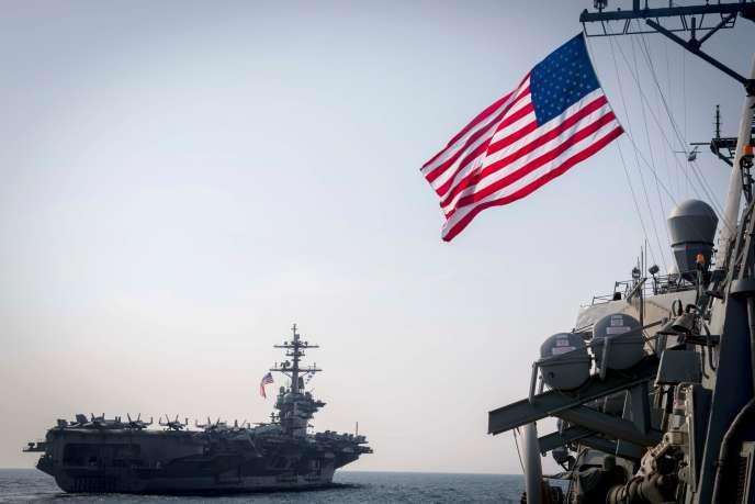 Le porte-avions américain USS « Carl Vinson », le 22 mars 2017.