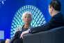 «L'accélération de l'activité économique peut certes susciter l'espoir de la bureaucratie, mais les niveaux de croissance ont eux aussi leur importance. En Europe, la croissance du PIB réel a été à peine positive, en moyenne, depuis la crise financière». (Photo : Christine Lagarde, directrice du FMI, reçoit dans le vaste atrium du quartier général de l'institution, à Washington, un hôte de marque : le nouveau secrétaire au Trésor américain, Steven Mnuchin, convié à une « conversation » sur la politique économique des Etats-Unis. Le samedi 22 avril.
