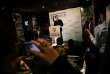 paris le 23 avril 2017. Soirée électorale de Jean Luc Mélenchon au Belushi's // Discours de Jean Luc Melenchon