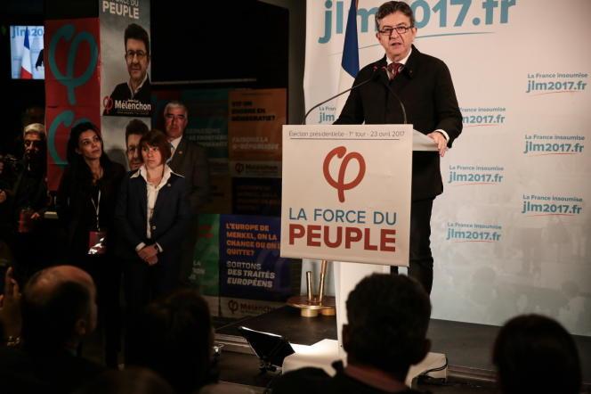 Jean-Luc Mélenchon, dimanche23 avril.