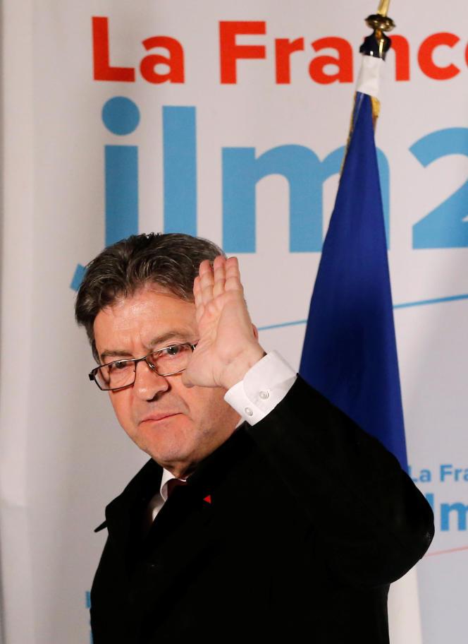 « Le fascisme est aussi un racisme de classe. Les Déat, les Doriot tenaient le même discours anti-oligarchie que celui de Le Pen» (Photo: Jean-Luc Mélenchon le 23 avril 2017 au soir, à l'issue du premier tour de l'élection présidentielle).