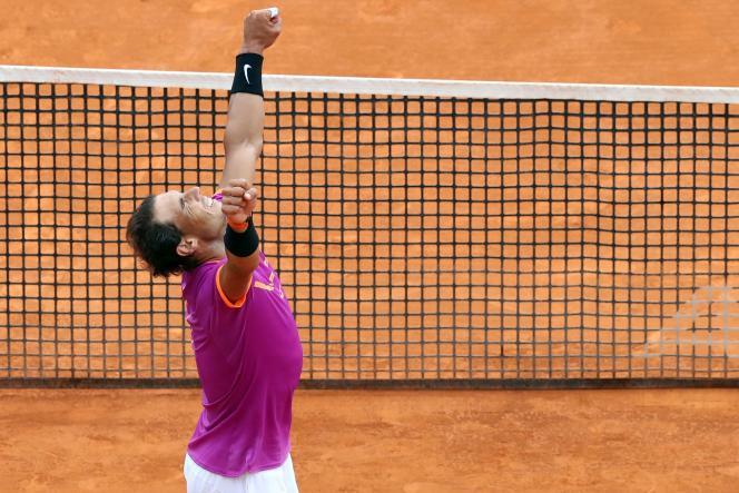Rafael Nadal après sa victoire à Monte-Carlo, le 23 avril.