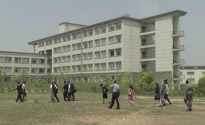 L'université des sciences et des technologies de Pyongyang. D'après son recteur, l'Américain arrêté par les autorités est un de ses enseignants.