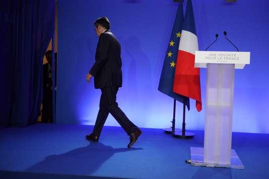 François Fillon, après l'annonce des résultats, dimanche 23 avril.