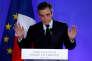 Après l'annonce des estimations de vote au premier tour de l'élection présidentielle, le 23 avril, à Paris.