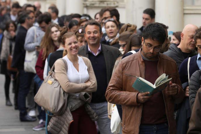 « Les Français recherchent en priorité un meilleur équilibre entre leur vie professionnelle et leur vie privée» (Des expatriés français à Londres lors du premier tour de l'élection présidentielle, en avril 2017).