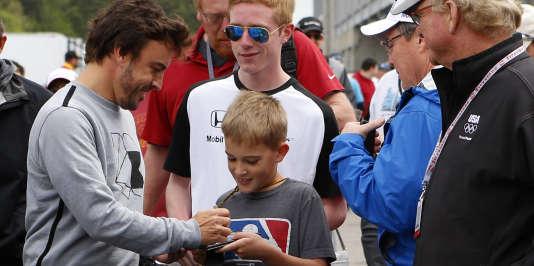 Fernando Alonso à Birmingham, le 23 avril.