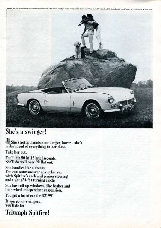 Une publicité parue en 1965 dans «Newsweek».