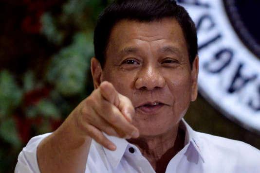 Le président Rodrigo Duterte au palaisMalacanang à Manille, le 19 décembre 2016.