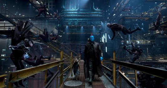 «Les Gardiens de la galaxie 2» : Rocket (avec la voix de Bradley Cooper), Groot (Vin Diesel), et Yondu (Michael Rooker).