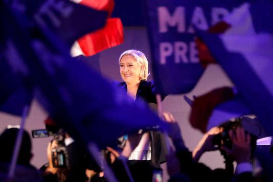 Marine Le Pen, le 23 avril 2017, à Hénin-Beaumont.