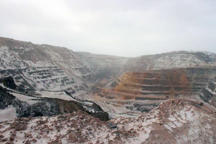 Une mine de fer à Fermont, Québec, le 21 mars 2012.