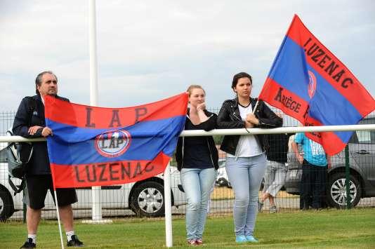 Les supporteurs de Luzenac, lors d'une rencontre en 2014.