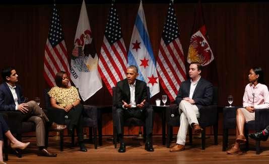 Barack Obama est apparu très à l'aise à Chicago.