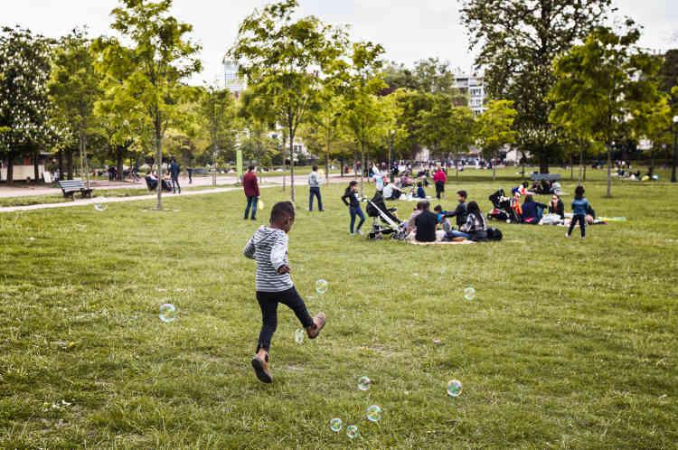 Au parc de la Tête-d'Or, le 17 avril.