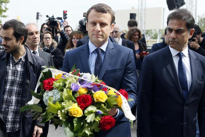 Emmanuel Macron lors de l'hommage rendu à Paris aux victimes du génocide arménien lundi après-midi.