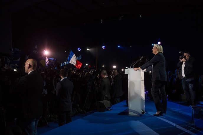 Marine le Pen Le 23 avril à l'espace François-Mitterrand de Hénin-Beaumont (Pas-de-Calais).