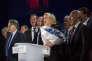 « La surprise du premier tour a été le score de Marine Le Pen, nettement en retrait des résultats du FN lors des dernières élections intermédiaires» (Photo: premier tour de la présidentielle à Hénin Beaumont avec la candidate Marine le Pen Le 23 avril).