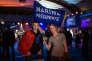 A Hénin-Beaumont le 23 avril 2017, des partisants de Marine Le Pen.