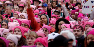 FILE PHOTO: People gather for the Women's March in Washington U.S. on January 21, 2017. REUTERS/Shannon Stapleton/File Photo