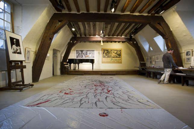 Le «grenier Picasso» (ici en juin 2013), où l'artiste a peint « Guernica » en 1937,occupe les deux derniers étages de l'hôtel de Savoie,rue des Grands-Augustins, à Paris.