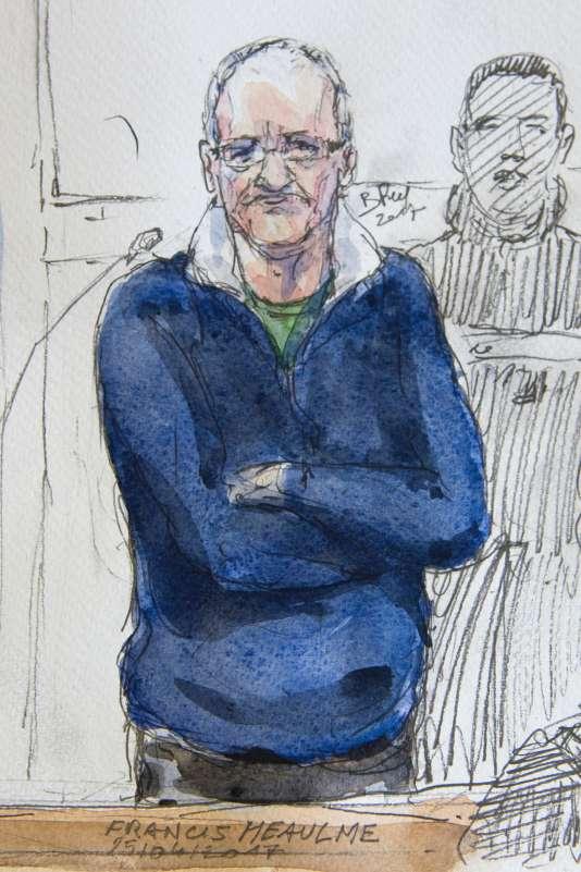 Dessin représentant Francis Heaulme lors de son procès à Metz, le 25 avril.