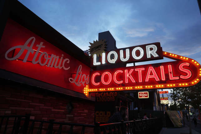 Atomic Liquors bar.