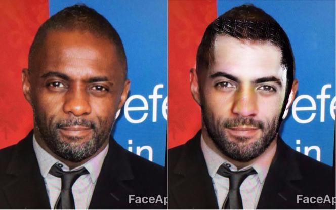 Le filtre« sexy» de FaceApp a blanchi la peau du comédien Idris Elba sur cette photo.