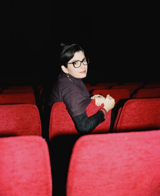 Emmanuelle Laborit, à l'International Visual Theatre, à Paris, le 20 avril.