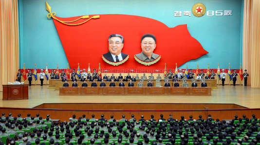 Rassemblement national pour célébrer à Pyongyang le 85e anniversaire de l'armée.