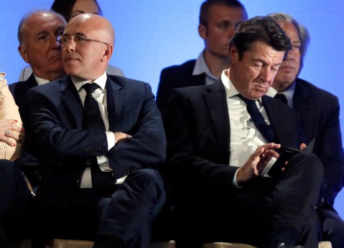 Christian Estrosi et Eric Ciotti à Nice le 17 avril.