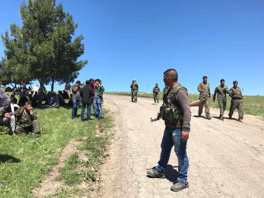 Des membres des YPG ont fait savoir que leur QG sur le mont Karachok, près de Malikiya, avait été touché.