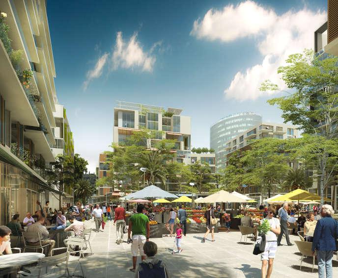 Le projet Destination Méridia, au cœur de Nice Méridia «prévoit 2500 logements et environ 150000m2 de bureaux, centres de recherche et de formation, commerces et hôtels».