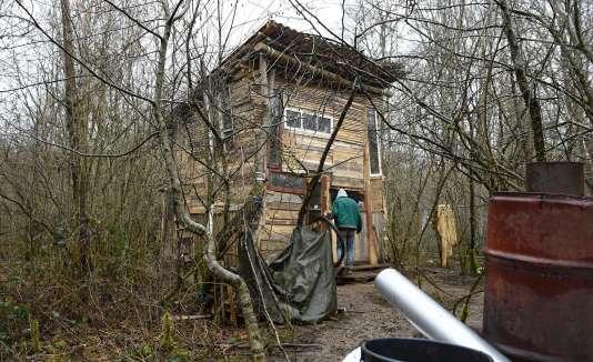 Dans le bois Lejuc, le 22 février, devenu l'épicentre de la résistance au projet Cigéo, que ses opposants qualifient de «poubelle nucléaire»